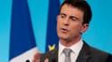 Manuel Valls lors d'une conférence de presse le 6 mars à Matignon.