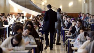 Un examen de première année à la faculté de médecine de Marseille, le 11 décembre 2012.