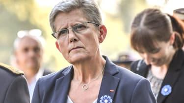 Le secrétaire d'Etat à la ministre des Armées, Geneviève Darrieussecq, le 26 septembre 2017 à Ablain-Saint-Nazaire.