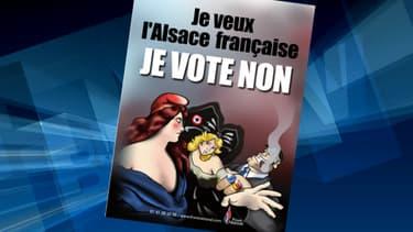 La nouvelle affiche de campagne du Front National pour l'Alsace.