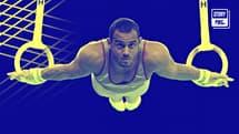 Samir Aït Saïd aux anneaux, agrès où il tentera de remporter sa première médaille olympique à Tokyo