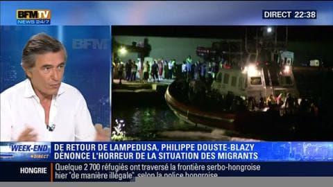 """Crise des migrants: """"On est tous responsable de ce qui se passe"""", Philippe Douste-Blazy"""