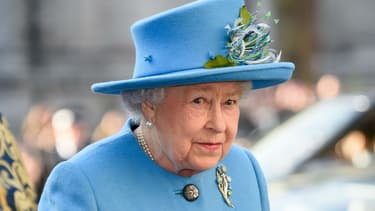 Elizabeth II à l'abbaye de Westminster le 14 mars 2016