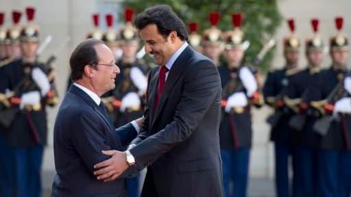 François Hollande a rencontré le cheikh Tamim Ben Hamad al Thani ce lundi 23 juin.