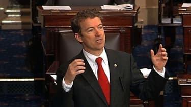 Le sénateur américain Rand Paul, lors de son discours fleuve