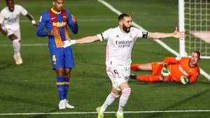 Karim Benzema célèbre son golazo dans le Clasico