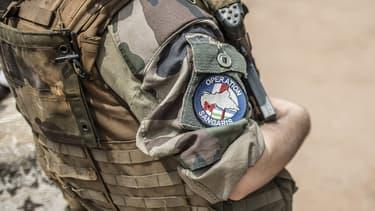 Un militaire de l'opération Sangaris, en Centrafrique.
