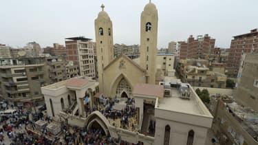 Une église copte frappée par un attentat meurtrier au Caire, le 9 avril 2017