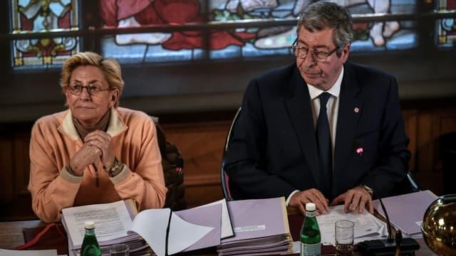 Isabelle et Patrick Balkany au conseil municipal de Levallois-Perret, le 15 avril 2019