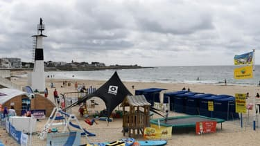 La plage de Quiberon, en Bretagne