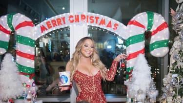 Mariah Carey, en mère Noel, en septembre 2017