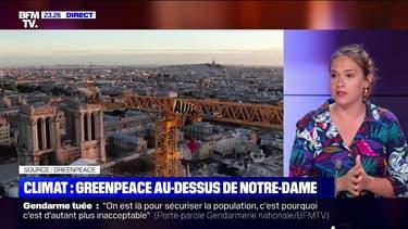 Climat: Greenpeace au-dessus de Notre-Dame