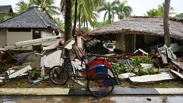 Les conséquences du tsunami à Tanjung Lesung le 26 décembre 2018. Photo d'illustration