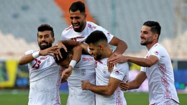 Les joueurs de l'Iran lors d'un match face au Cambodge, le 10 octobre 2019