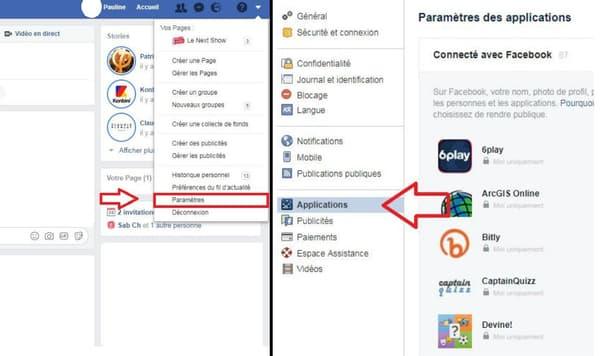 Trouver ses paramètres de compte Facebook sur l'ordinateur