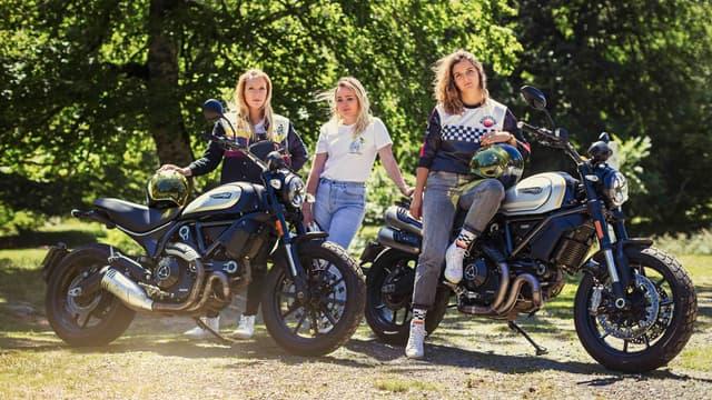 Caroline, Camille et Anastassia se déchaînent pour mieux ouvrir le monde de la moto aux femmes