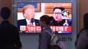 Un montage sur un écran de télévision à Séoul, en Corée du Sud, le 16 mai.
