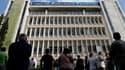 Le gouvernement grec a fermé temporairement la société de radiotélévision publique ERT dans le cadre des mesures d'économies budgétaires, suscitant les protestations des salariés et de certains partenaires de la coalition au pouvoir. /Photo prise le 11 ju