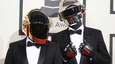 Le duo Daft Punk le 26 juin 2014 à Los Angeles