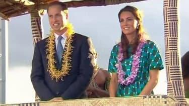 Le prince William et son épouse Catherine lors de leur voyages aux îles Salomon.