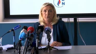Marine Le Pen à Dijon le 16 juin 2020