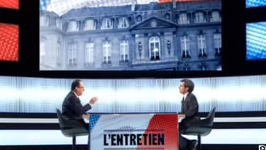 François Hollande sur France 2, jeudi soir.