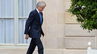 Claude Sérillon dans la cour de l'Elysée le 18 septembre 2013.