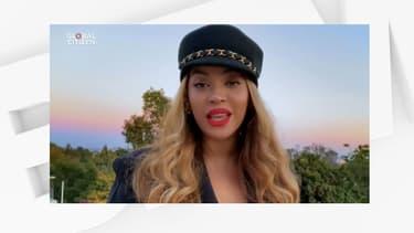 Beyoncé lors du concert caritatif.