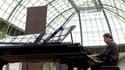 Philip Glass en concert au Grand Palais à Paris, le 7 juin 2008.