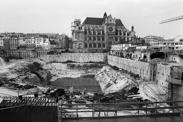 Les Halles après démolition.