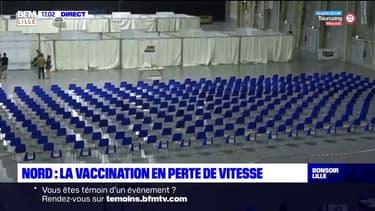 Douai: le centre de vaccination presque désert