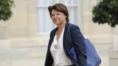 Martine Aubry, maire de Lille, à l'Elysée en septembre 2014