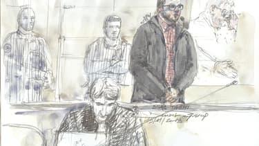 Dessin du procès de Bilal Taghi ce mardi