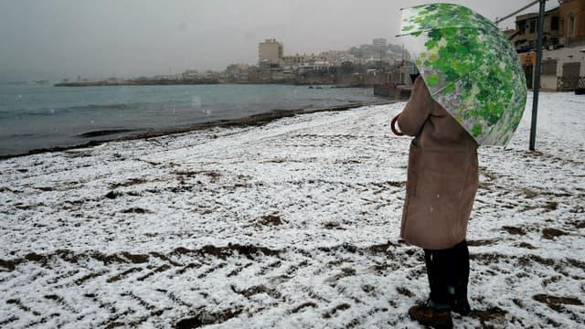 De la neige à Marseille le 21 mars 2018 (photo d'illustration)