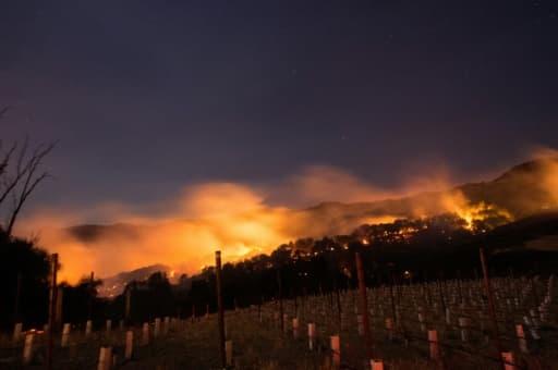 Des incendies monstres dans la région viticole de Napa, Californie, le 9 octobre 2017
