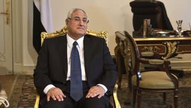 Le président intérimaire désigné par l'armée, Adly Mansour