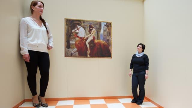 Deux femmes posent dans une chambre d'Ames en Allemagne (photo d'illustration).