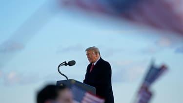 Donald Trump le 20 janvier 2021 sur la base d'Andrews, près de Washington, au dernier jour de son mandat