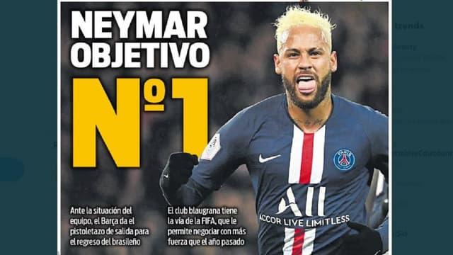 Neymar fait la Une du quotidien Sport ce mercredi