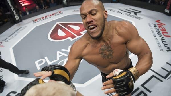 Ciryl Gane lorsqu'il combattait pour l'organisation canadienne TKO