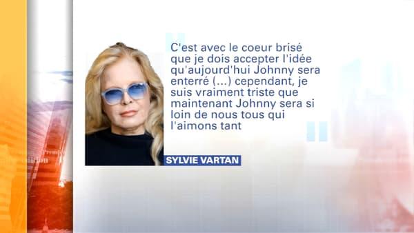 Sylvie Vartan annonce qu'elle n'assistera pas aux obsèques de Johnny Hallyday à Saint-Barthélémy