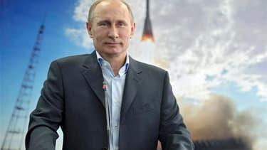 Vladimir Poutine a annoncé vendredi, au cours d'une communication vidéo avec les cosmonautes séjournant à bord de la Station spatiale internationale (ISS), qu'une mission habitée serait lancée pour la première fois de Russie en 2018. /Photo prise le 12 av