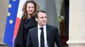 Axelle Lemaire et Emmanuel Macron sur le perron de l'Elysée le 10 décembre 2014.