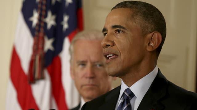 Le président Barack Obama s'exprime à la Maison blanche à propos de l'accord sur le nucléaire iranien.