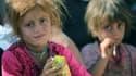 Des enfants de la communauté yazidi ayant fui l'Etat islamique en Irak, en août 2014.