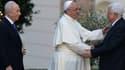Le Pape Françosi a reçy au Vatican Abbas et Perez.
