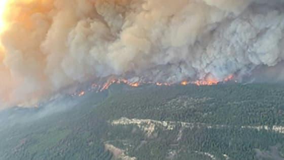 L'incendie de Sparks Lake, en Colombie-Britannique (Canada), le 29 juin 2021