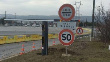 Le nouveau radar a été installé sur l'A7 au niveau du péage de Valence Sud