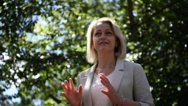 La nouvelle ministre de l'Environnement Barbara Pompili, le 11 juillet 2020 à Fontainebleau
