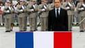 """Nicolas Sarkozy a célébré samedi le 65ème anniversaire de la fin de la Seconde Guerre mondiale à Colmar, en Alsace, pour """"réparer une injustice"""" faite à ses yeux à l'Alsace et à la Moselle annexées entre 1940 et 1945 et évoquer le sort des incorporés de f"""